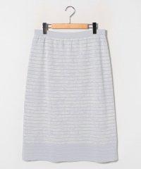 【大きいサイズ】【セットアップ対応】ラメ入りジャカード ニットスカート