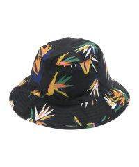 KiU(キウ)BUCKET HAT/南国花鳥フブラック/バケットハット