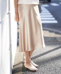 【洗える】サテンツイルマーメイドスカート