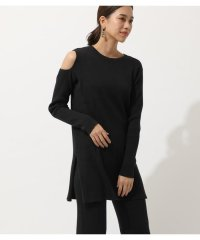 SHOULDER OPEN TUNIC KNIT TOPS