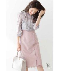 ◆裾レーススリットタイトスカート