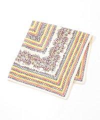 JEAN-JACQUE ROGERS イラストプリントスカーフ