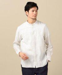 SC: SAFILIN リネン バンドカラー シャツ