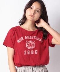 【E hyphen world gallery】ヴィンテージプリントショートTシャツ