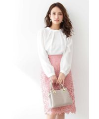 ◆リーフフラワーレースタイトスカート