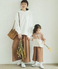 【ママとおそろい】花柄 チェック ストライプ ロング フレア ガウチョ パンツ ワイドパンツ