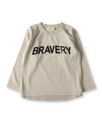 ロゴメタリックプリント長袖Tシャツ(80~150cm)