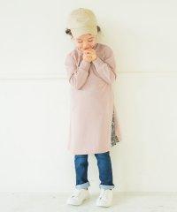 脇プリーツ切替長袖ワンピース(90~150cm)