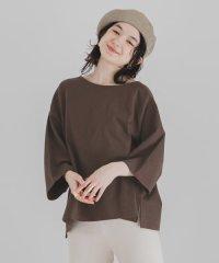 オーガニックコットンアシメTシャツ(7分袖)