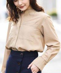 【InRed4月号掲載】ノーカラーポケット付チュニックシャツ
