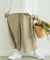 【ママサイズ】花柄 チェック ストライプ ロング フレア ガウチョ パンツ ワイドパンツ