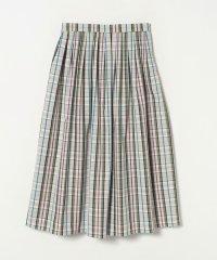 WO76 JUPE ペンシルチェックロングスカート