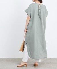 【WEB限定】バックリボン麻ドレス