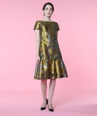 《M Maglie le cassetto》ミモザジャガードペプラムドレス