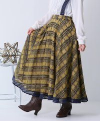 『somariシアーチェック配色レーススカート』