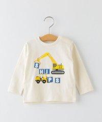 SHIPS KIDS:はたらくくるま プリント 長袖 TEE(80~90cm)