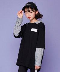 シャツレイヤード風長袖BIGTシャツ