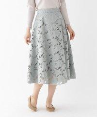 【洗える/Lサイズあり】クラフトカットレーススカート