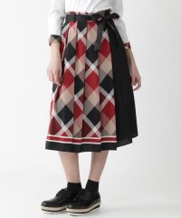 クレストブリッジチェックスカーフプリントスカート
