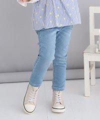 ジョグデニムフラワー刺繍パンツ