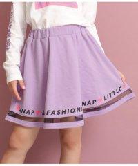 チュール切り替えスカート