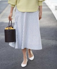 【洗える】ストライプマーメイドスカート