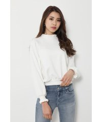 Frill collar sweat TOP