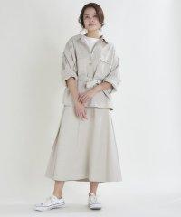 コットンクロスフレアースカート