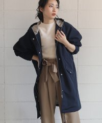 グログラン配色ライナー付きモッズコート