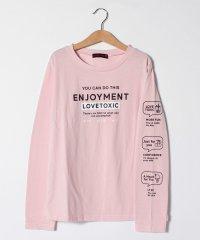 袖アイコンロゴプリントTシャツ