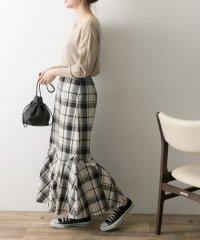 【UR】マルチチェックマーメイドスカート