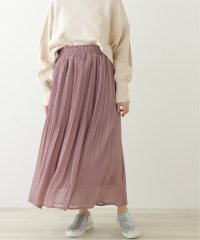 シフォン楊柳消しプリーツスカート
