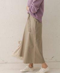 ベルト付Aラインスカート