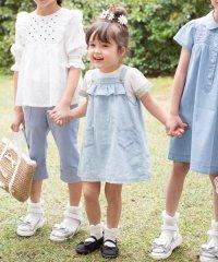 【80-100cm】ブリーチデニム ジャンパースカート