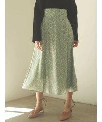 Modernフラワーラップスカート
