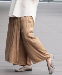Ray BEAMS / サテン スカート レイヤー パンツ