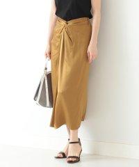 Demi-Luxe BEAMS / サテン フロントクロス スカート