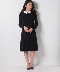 【洗える】白襟×トリアセダブルクロス ドレス
