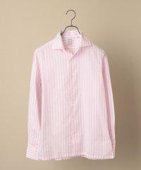 SD: ウォシュト ICE COTTON(R) ワンピース ストライプ ピンク シャツ