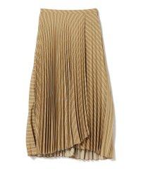 Ray BEAMS / ストライプ プリーツ ラップスカート