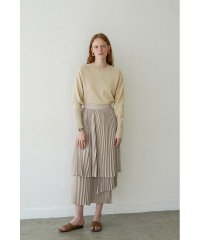 THREE LAYER PLEAT SKIRT