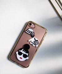 〈HAPPY FACE/ハッピーフェイス〉サングラスLADY アイフォンケース(iPhone7/8/X/XS/11/11Pro対応)