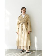 BACK FRILL SLEEVE TRENCH COAT