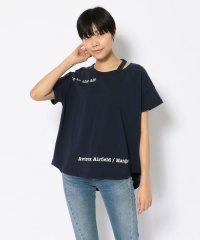 SH/オープンネック オーバーサイズ Tシャツ/OPEN NECK OVER SIZE T-SHIRT