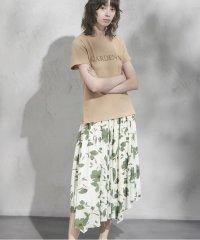 《musee》リーフプリントフレアスカート