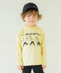 線画プリントモックネックTシャツ(80~150cm)