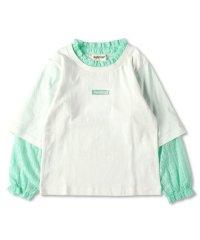 レース重ね着長袖Tシャツ(90~150cm)