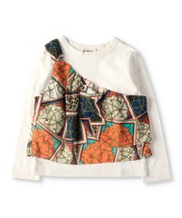 ワンショルビスチェ風長袖Tシャツ(90~150cm)