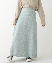 モノトーン小花ロングスカート