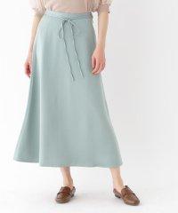 ◆【洗える/Lサイズあり】マットサテンロングフレアスカート